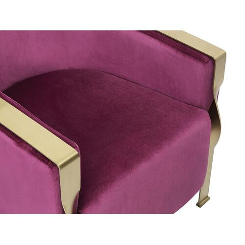 Divani Casa Anthony Modern Pink & Gold Accent Chair