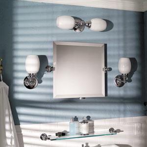 "City 212 20 X 20"" Frameless Pivoting Mirror - Polished Chrome Product Image"