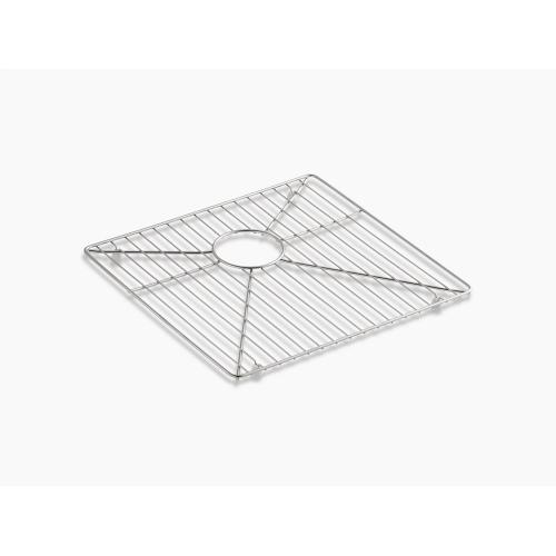 "Stainless Steel Stainless Steel Sink Rack for Left Basin, 16-15/16"" X 15-15/16"""