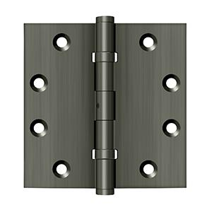 "4-1/2"" x 4-1/2"" Square Hinges, Ball Bearings - Antique Nickel"
