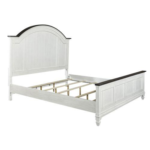 Queen Arched Panel Bed, Dresser & Mirror, Night Stand