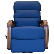 Swivel Recliner Glider, Recliner Arms Available in Teastain, Saddle or Cottage White Finish.