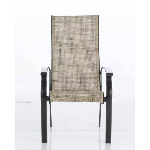 Tracker Sling Stackable Dining Arm Chair
