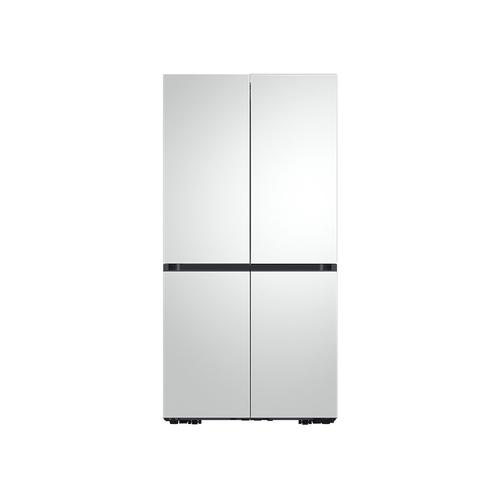 Samsung - 29 cu. ft. Smart BESPOKE 4-Door Flex™ Refrigerator with Customizable Panel Colors in Rose Pink Glass