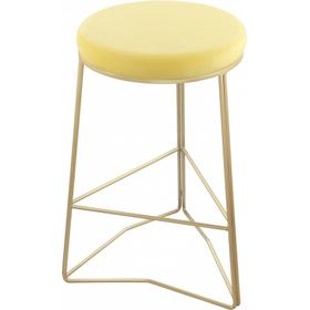 "Tres Velvet Counter Stool - 18"" W x 18"" D x 26.5"" H"