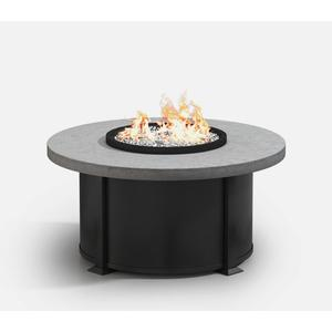 """42"""" Round Coffee Fire Pit Ht: 19"""" Valero Aluminum Base (Indicate Top, Frame, & Side Panel Color)"""