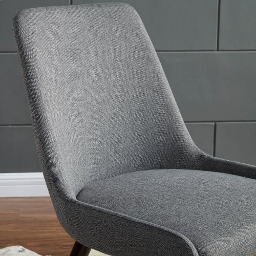 Mia Side Chair, set of 2 in Dark Grey/Walnut Legs