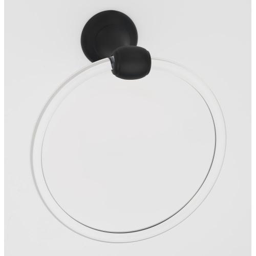 Acrylic Royale Towel Ring A7340 - Matte Black