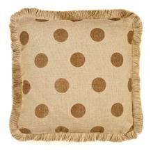 Product Image - Brown Dot Burlap Pillow