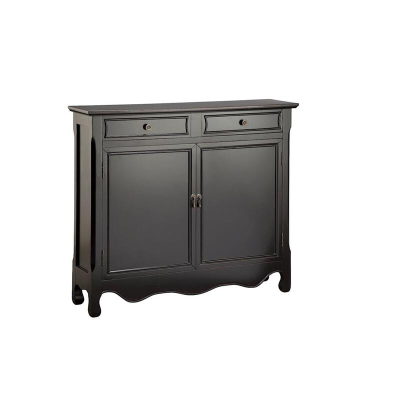 Claridon 2-door 2-drawer Cabinet In Black