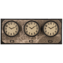 Horizontal Time Zone Wall Clock