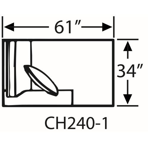 Capris Furniture - Sectional Component-One Arm Chaise