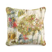 Toss Pillow with a Colorful Monet Pattern