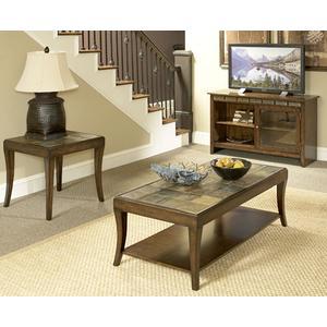 Mahogany Slate Coffee & End Table Set