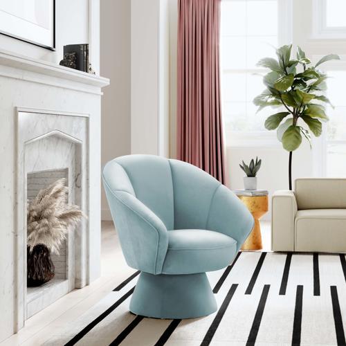 Allora Light Blue Accent Chair