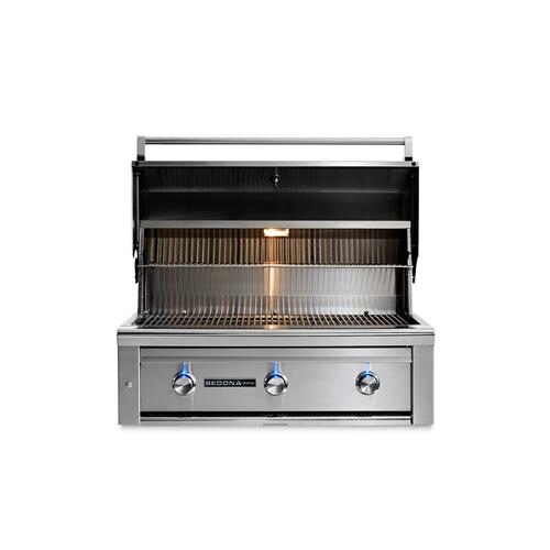 "36"" Sedona by Lynx Built In Grill with 2 Stainless Steel Burners and ProSear Burner, NG"