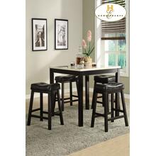 5-Piece Pack Counter Height Set (Faux Marble Top) Table : 36 x 36 x 36H Stool : 20 x 13.5 x 26H