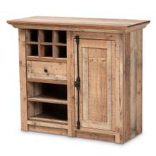 See Details - Baxton Studio Albert Modern and Contemporary Farmhouse Rustic Oak Brown Finished Wood 1-Door Dining Room Sideboard Buffet