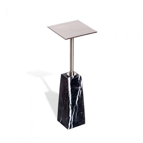 Beck Square Drink Table - Black/ Nickel