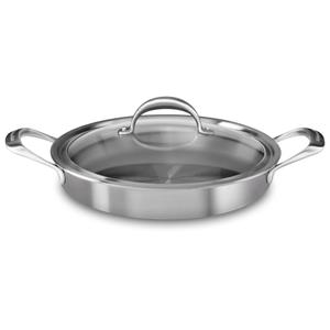 5-ply Copper Core 3.5-Quart Braiser with Lid - Stainless Steel Finish