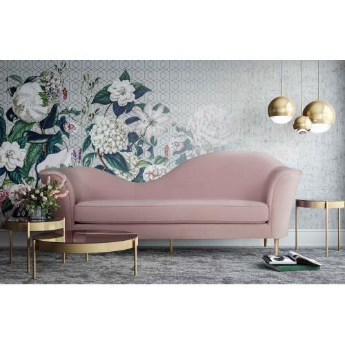 Tov Furniture - Plato Blush Velvet Sofa