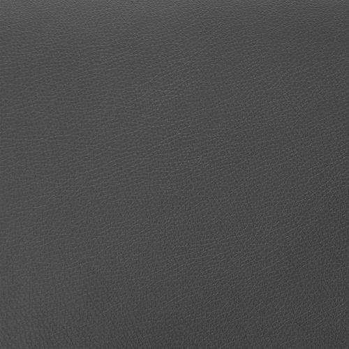 "Armen Living - Brigden Grey Faux Leather and Black Metal Swivel 30"" Bar Stool"