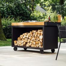 See Details - Mise en Place Table Black 135 PRO Teak Wood