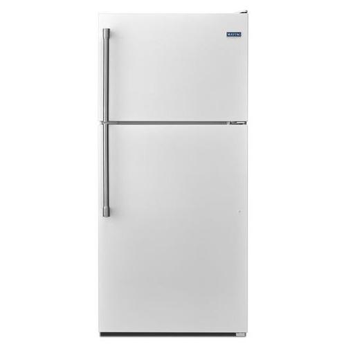 Maytag® 30-inch Wide Top Freezer Refrigerator with EvenAir Cooling Tower - 18 cu. ft. - White