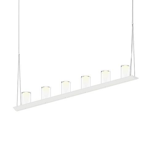 "Sonneman - A Way of Light - Votives LED Bar Pendant [Size=4', Color/Finish=Satin White, Shade Size=4.5"" height x 2.75"" diameter]"