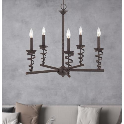60W x 5 Forbach metal chandelier (Edison Bulbs are included)
