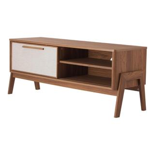 """See Details - Heaton 48"""" KD Low TV Stand, Walnut (ASSEMBLY REQUIRED)"""