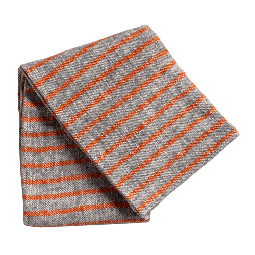 Adeline Rust & Grey Throw