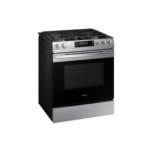 5.8 cu. ft. 5 Burner Slide-in Gas Range in Stainless Steel