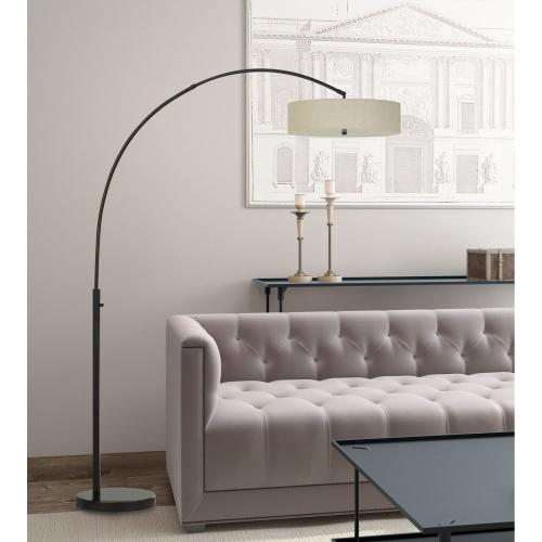 Chardon LED 36W 2500 Lumen, 3K Adjustable Metal Arc Floor Lamp With Dimmer Switch