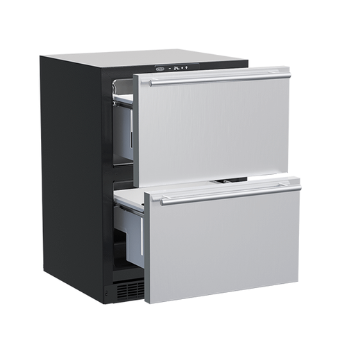 Marvel - 24-In Built-In Refrigerated Drawers with Door Style - Stainless Steel