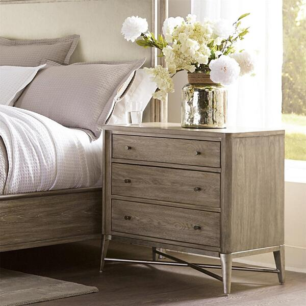 See Details - Sophie - Three Drawer Nightstand - Natural Finish