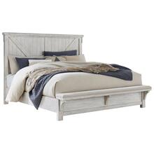 Brashland King Panel Bed with Bench
