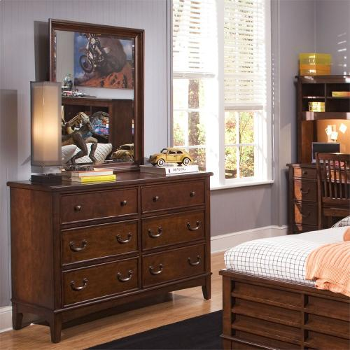 Full Bookcase Bed, Dresser & Mirror