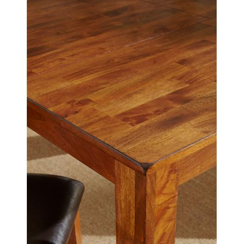 "Mango 60-78 inch Dining Table w/ 18"" Butterfly Leaf Light Oak"