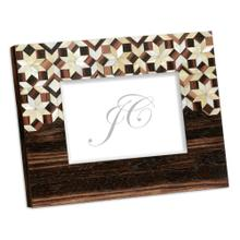 5x7 Horizontal Macassar Ebony & Mother of Pearl Mosaic Picture Frame