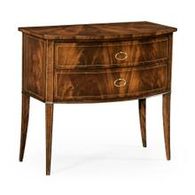 See Details - Biedermeier style mahogany bow front chest