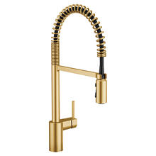 Product Image - Align Brushed gold one-handle high arc pulldown kitchen faucet