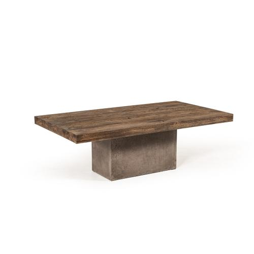 Modrest Renzo Modern Oak & Concrete Coffee Table