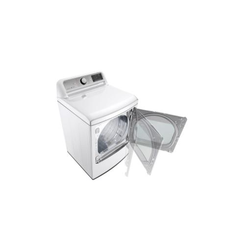 LG - 7.3 cu. ft. Ultra Large Capacity TurboSteam™ Gas Dryer with EasyLoad™ Door