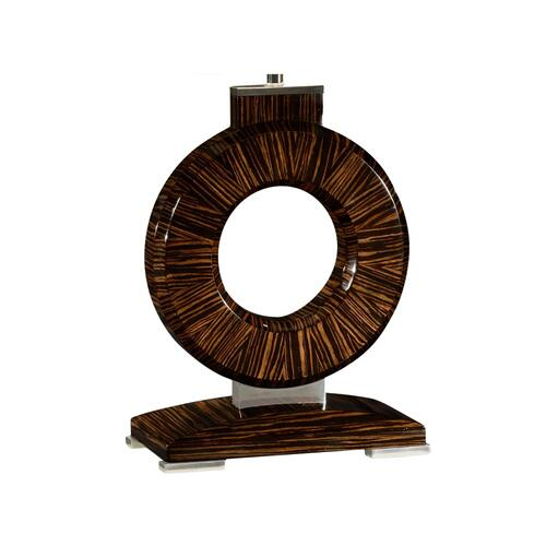 Porthole Faux Macassar Table Lamp Base