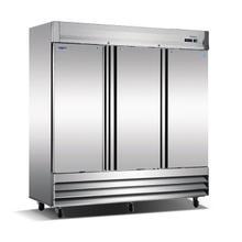 See Details - Three Door, Stainless Steel Solid Door Commercial Freezer