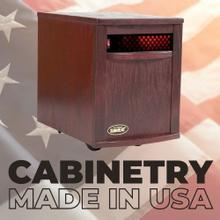View Product - Original SUNHEAT USA1500 Infrared Heater - Black Cherry