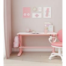 View Product - Hanover 20-In. Wide Pink Electric Stand or Sit Desk for Children with Adjustable Height for School, Crafts, and Writing Stations, HCR001DSK-PINK