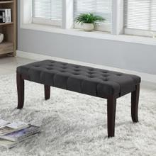 Product Image - Linon Grey Fabric Tufted Ottoman Bench