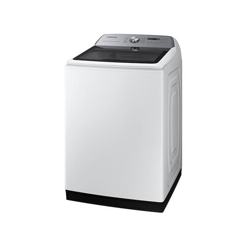 Samsung - 5.2 cu. ft. Large Capacity Smart Top Load Washer with Super Speed Wash in White